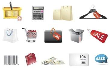 Shopping icônes