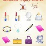 icônes féminines