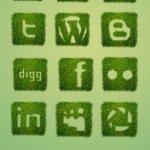 Icônes sociales herbe