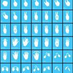 icones gestes tactile