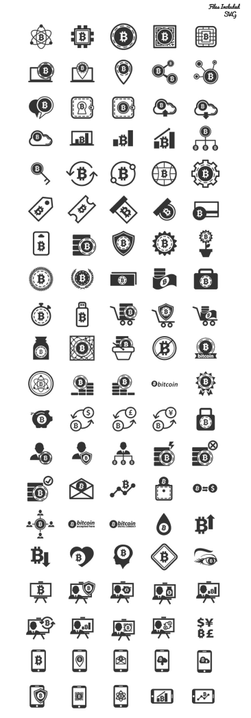 Bitcoin icônes