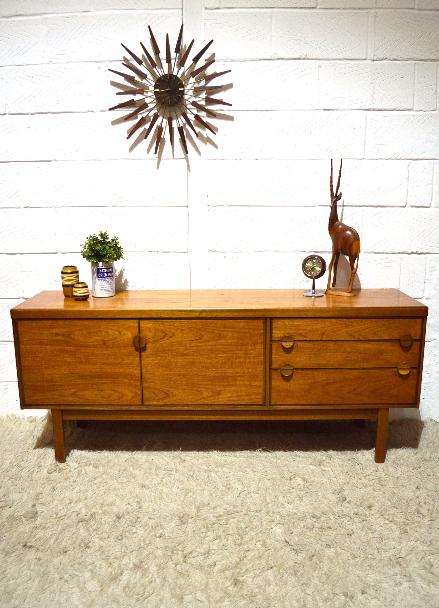 Vintage Nathan Sideboard 60s 70s Stylish Unusual Funky Original Vintage Mid Century Nathan