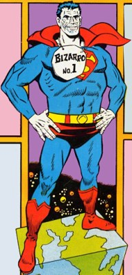 Bizarro: art from the cover of Superman #202 (Dec. 1967). Art by Curt Swan & George Klein.