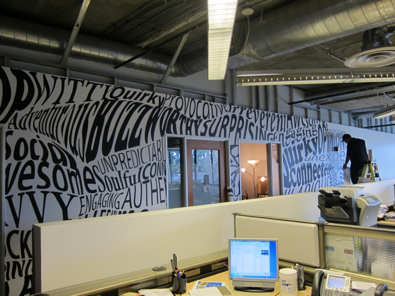 Vinyl Art Custom Interior Wall Wraps | Santa Monica, Ca