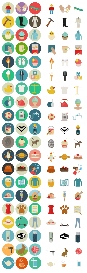 60 flat icons