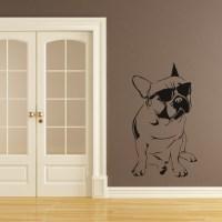 French Bulldog Sunglasses Dogs Wall Decal Wall Art ...