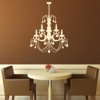 Grand Chandelier Candle Old Fashioned Wall Stickers Wall ...