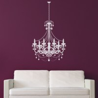 Old Fashioned Candle Chandelier Wall Stickers Wall Art ...