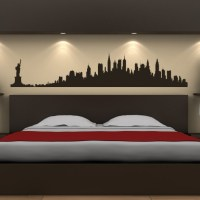 New York City Skyline Wall Stickers America USA Places ...