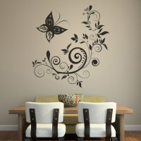 Butterfly Floral Decorative Wall Art Stickers wall Art ...