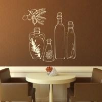 Glass Bottles Kitchen Wall Art Stickers Wall Decals ...