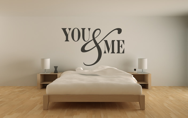 You & Me Wall Stickers Love Quotes Wall Quotes Wall Art