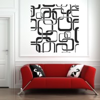Square Patterns Wall Stickers Wall Art Decal Transfers | eBay