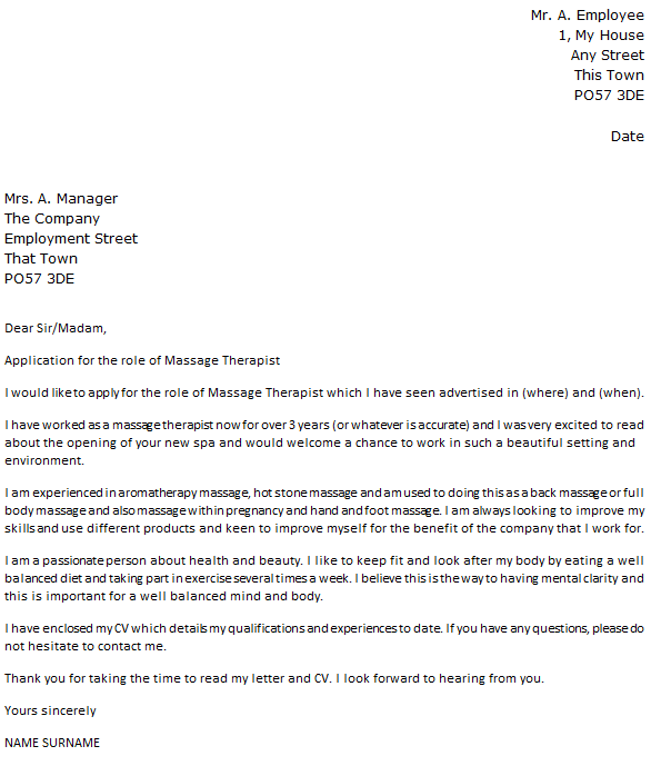 physical therapy cover letter sample