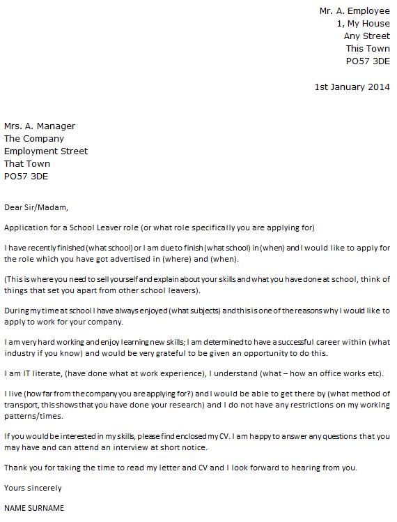 cover letter for school job