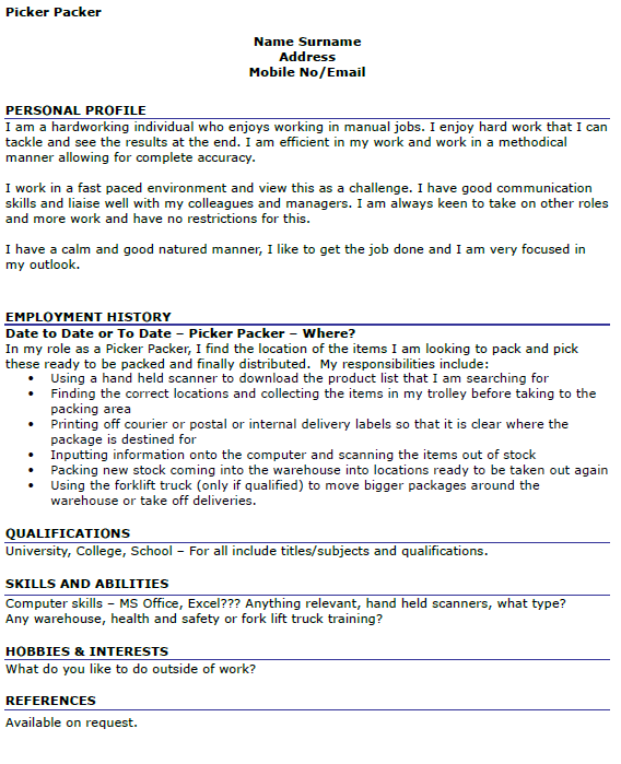 warehouse jobs resume warehouse job description resume perfect