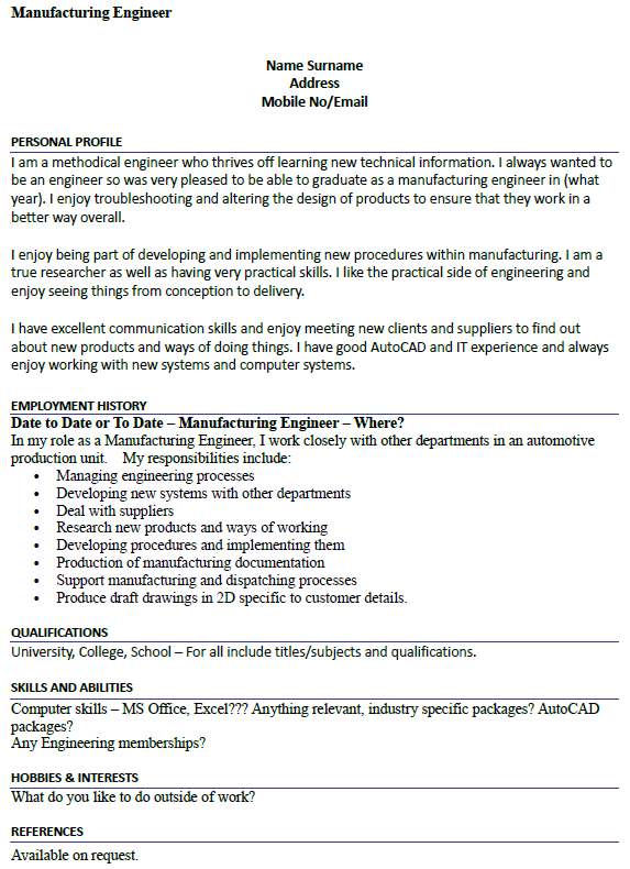 good cv summary examples