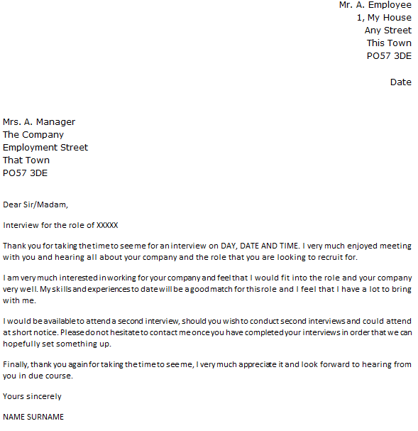Letter From Employer To Employee Kid School