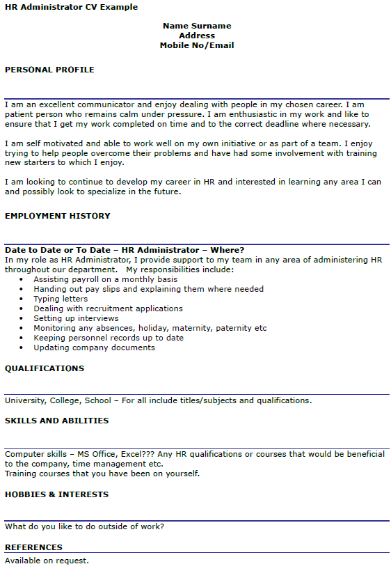 sales office administrator cv