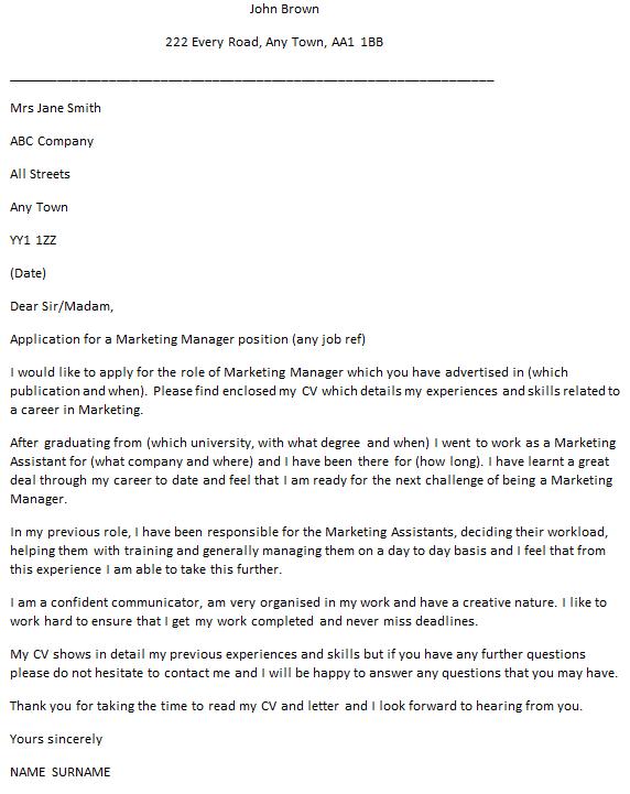 cv covering letter uk template