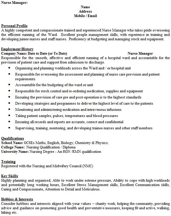 example biology degree resume