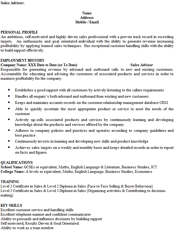 customer service cv examples uk