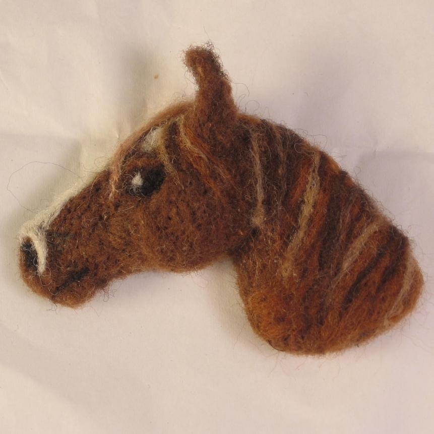 Baby Pendant Ned The Needle Felt Horse Head By Pitbullladydesigns