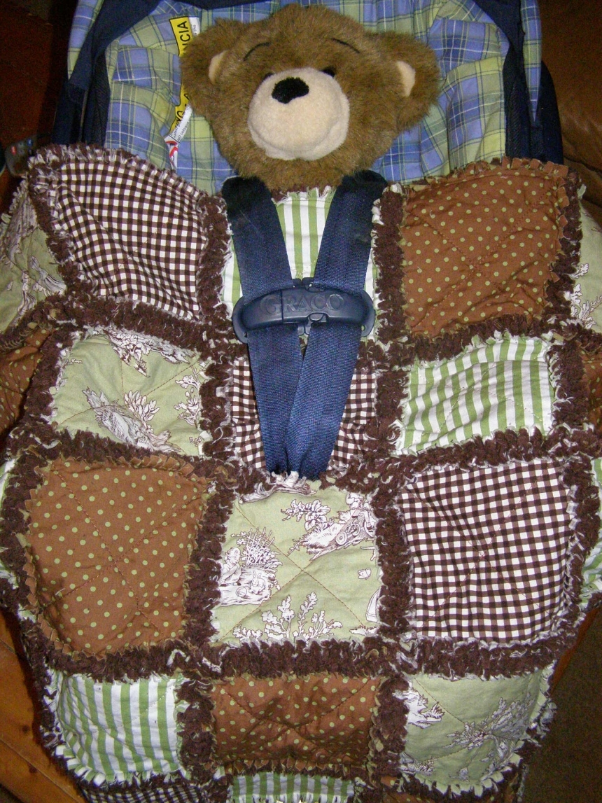 Baby Stroller Bag Custom Baby Car Seat Rag Quilt Cover You Pick Design