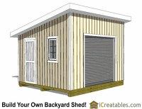 14x14 Shed Plans - Build a Large Storage Shed - DIY Shed ...