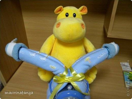 Baby Newborn Unisex Clothes Diy Hippo On The Bike Diaper Gift