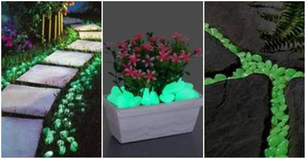 Diy Bed Creative Ideas - Glow-in-the-dark Pebbles For Walkway