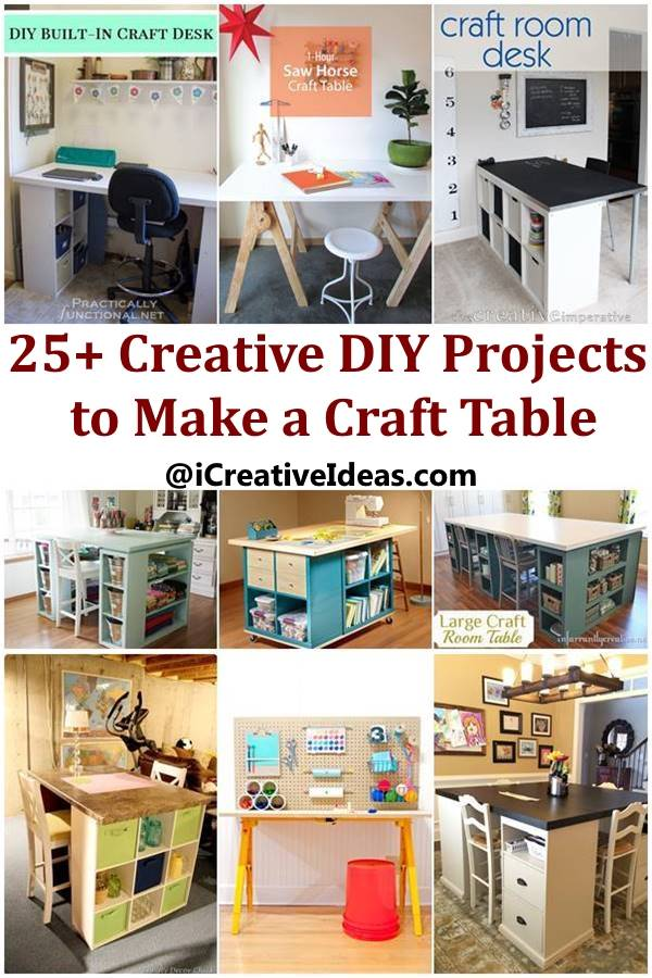 Ikea Hack Kallax Creative Ideas - Diy Customized Craft Desk - I Creative Ideas