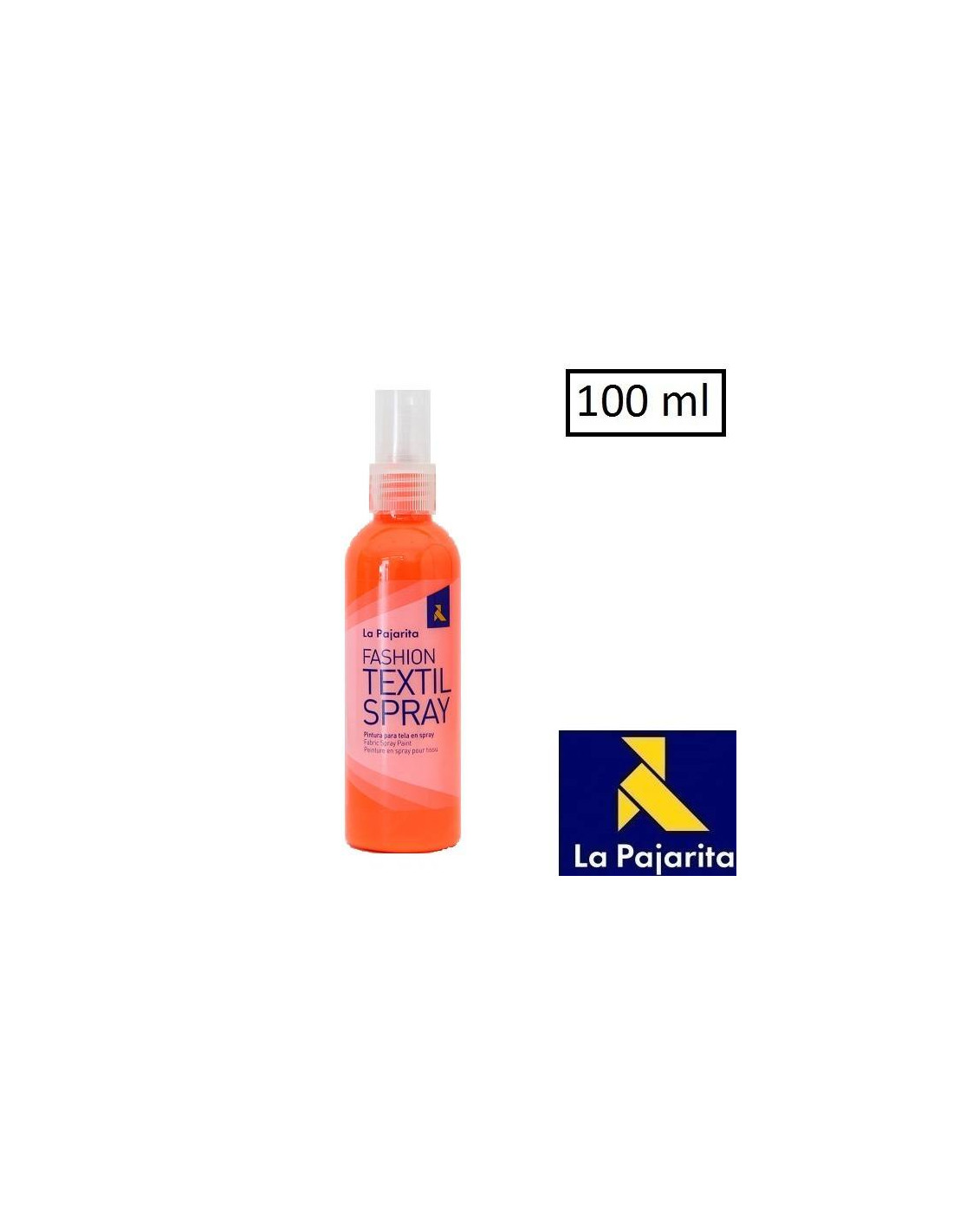 Pintura De Tela En Aerosol Pintura Para Tela En Spray 100ml Fluor Orange Ts 14