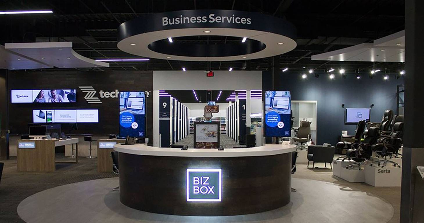 Office Stores Office Depot Converts Austin Stores To Bizbox Format Icsc