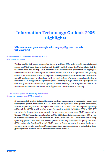 Global Information Technology Outlook Report Executive Summary