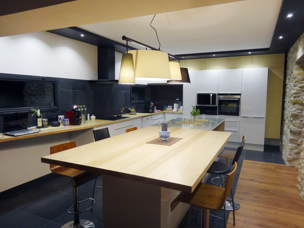 Emejing Cuisine Frene Blanc Photos House Design Marcomilone