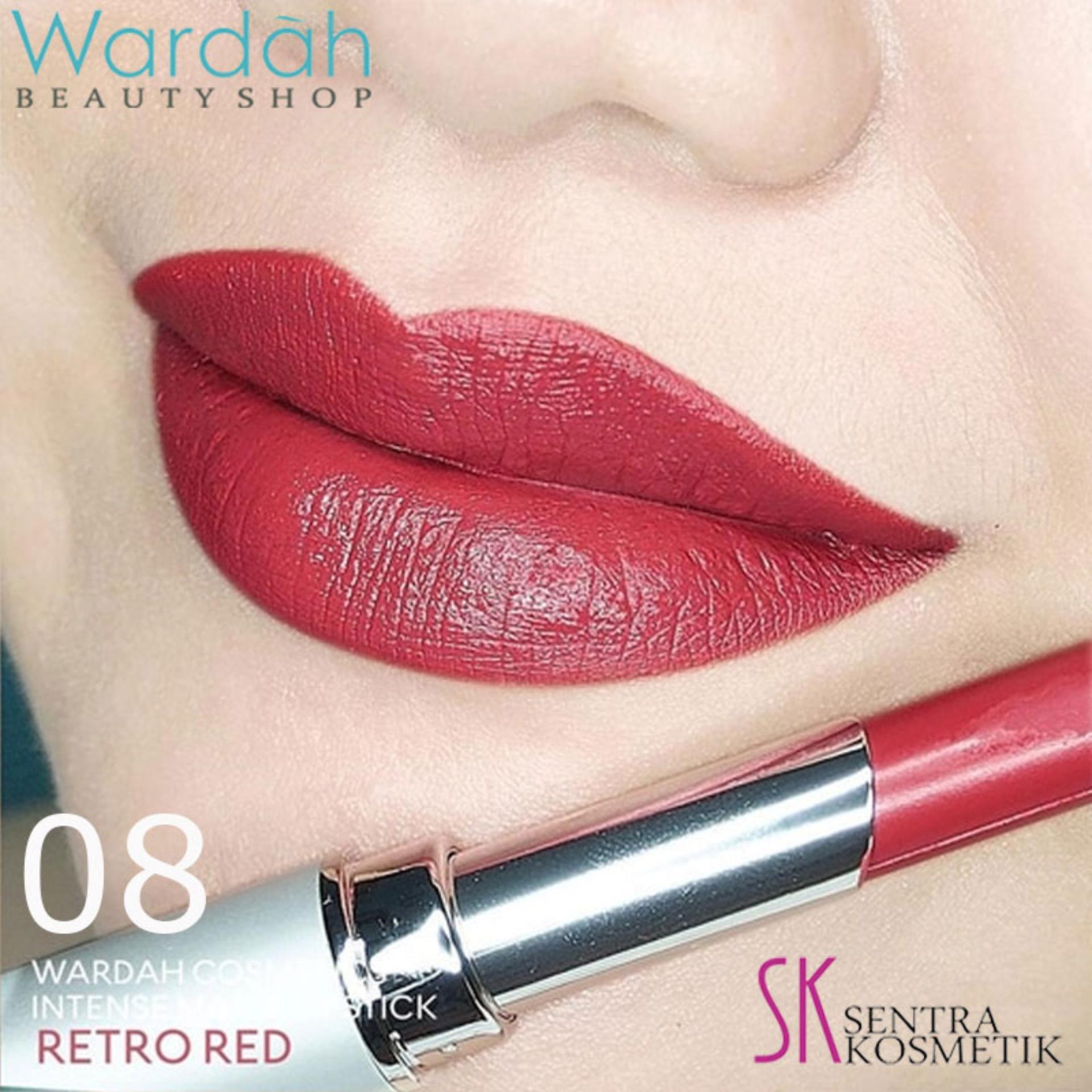 Wardah INTENSE Matte Lipstick 08 Retro Red