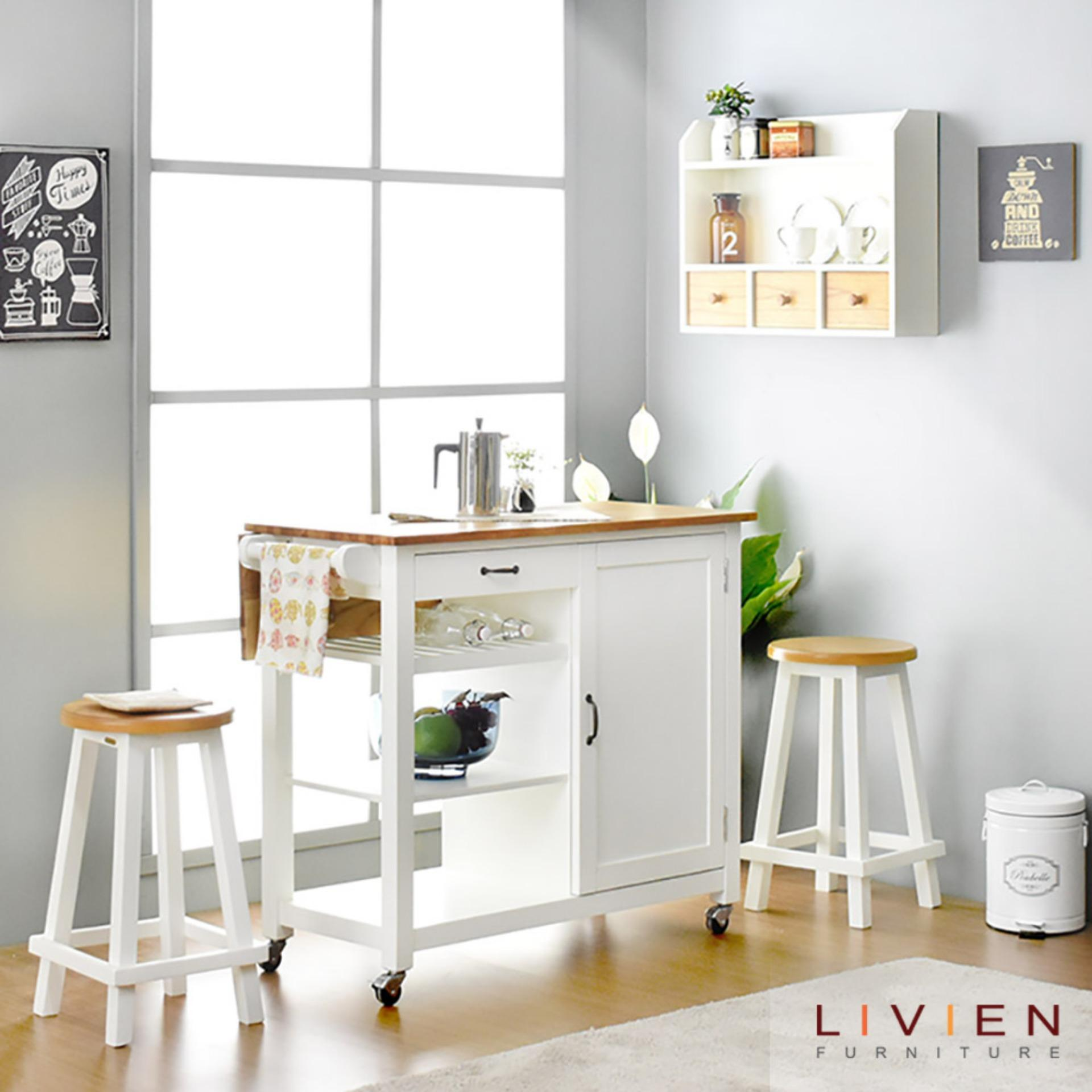 Gambar Meja Dapur Livien Kitchen Troley Table Maple Story Meja Troli Dapur Meja Dapur