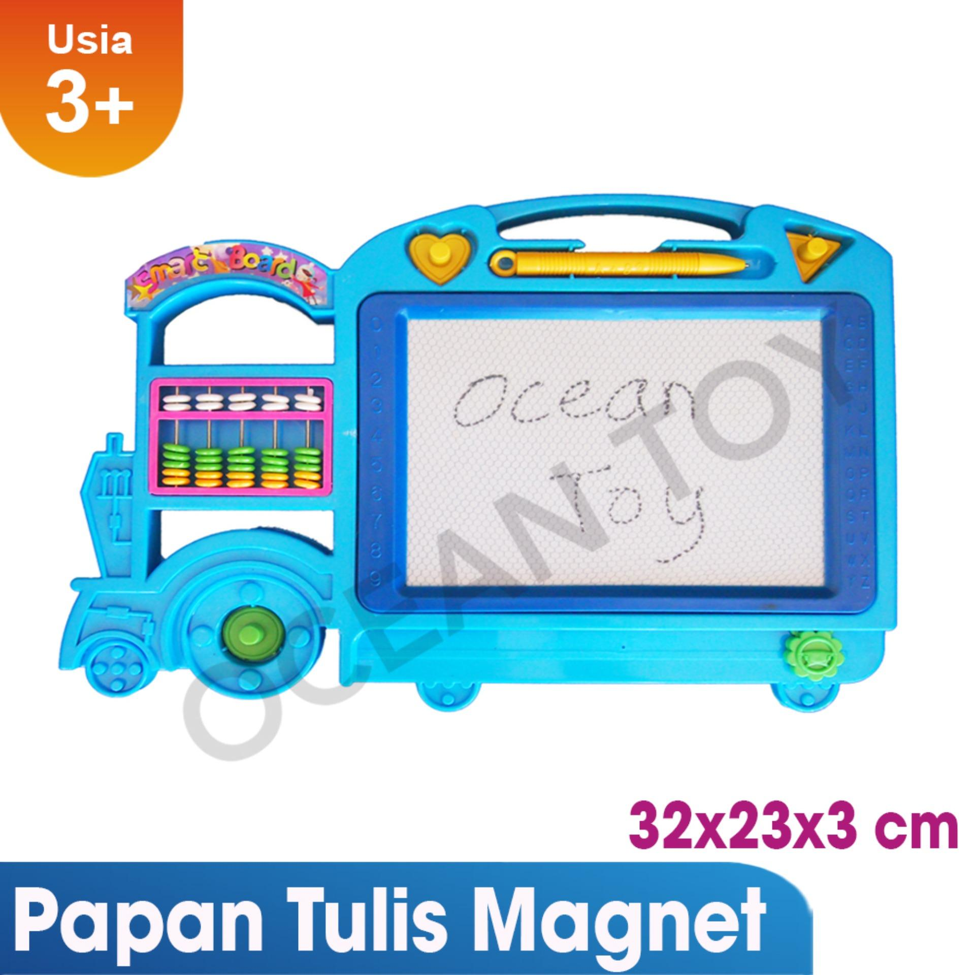 Harga Cat Papan Tulis Kapur Mainan Papan Tulis Fbl Papan Tulis Magnet Magic Board Mainan Edukasi Anak Oct0035 Warna Random