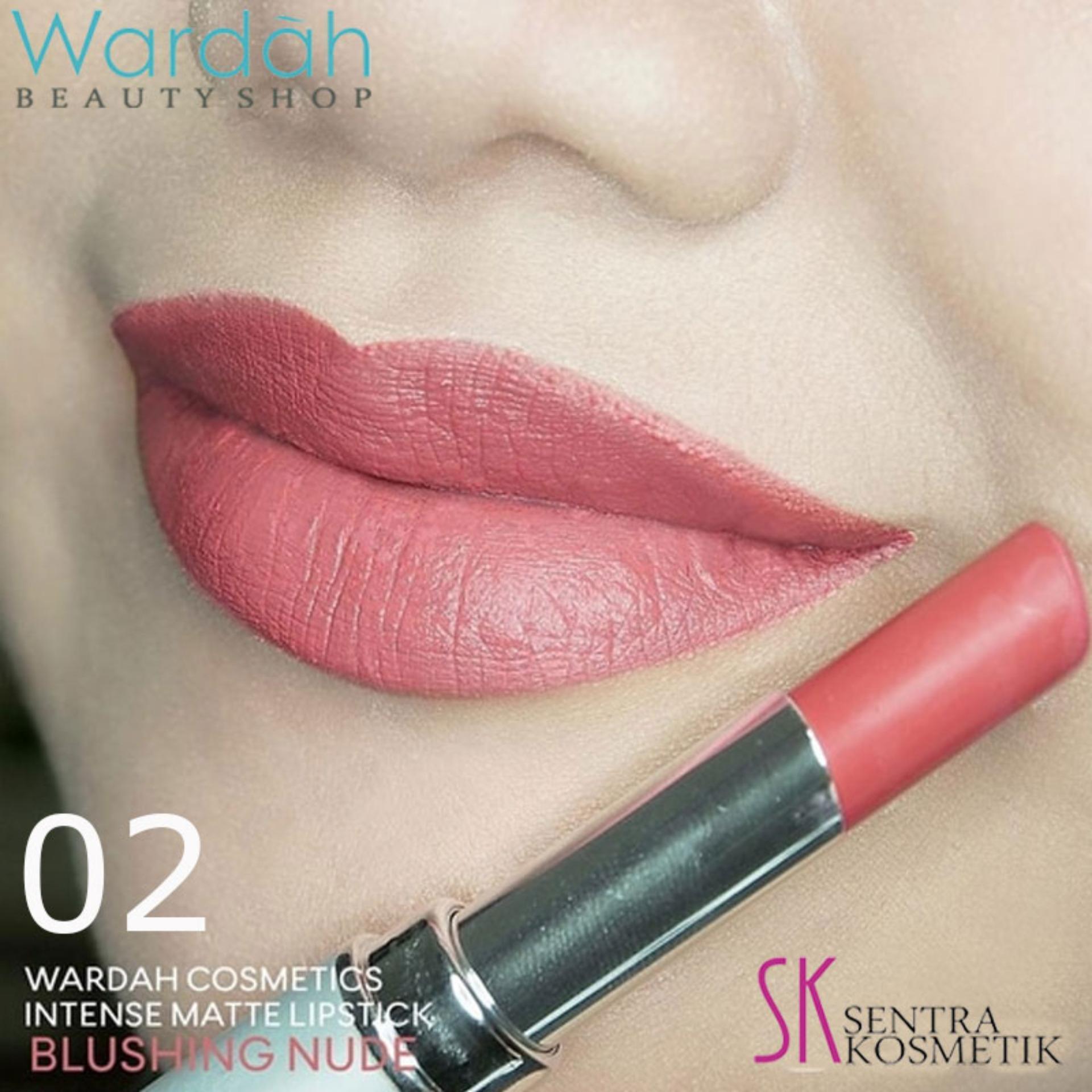 Wardah INTENSE Matte Lipstick 02 Blushing Nude