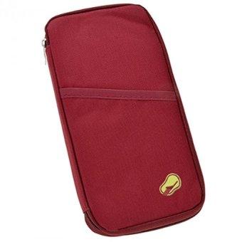 Grosir Travel Id Holder Dompet Pasport Pasport Organizer Merah