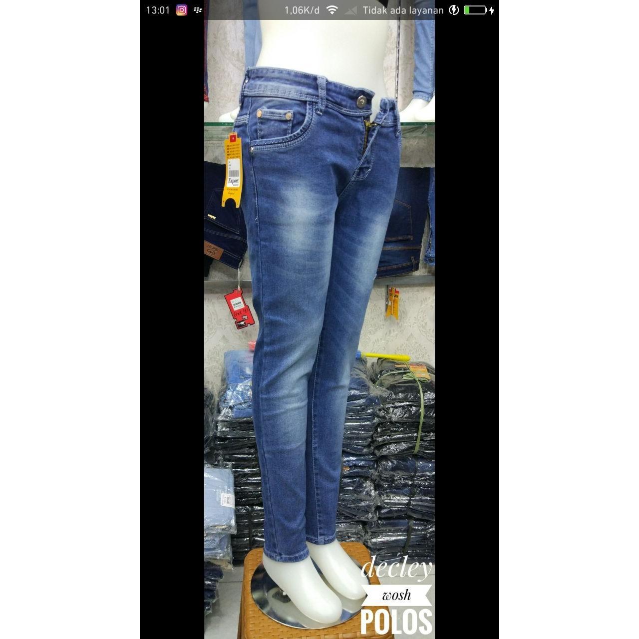 Koleksi Harga Baju Muslim Modern Bawahan Celana November 2018 Murah Cewek Polos Original Declay Wash Jeans Casual Soft Super Stretch Simple Wanita