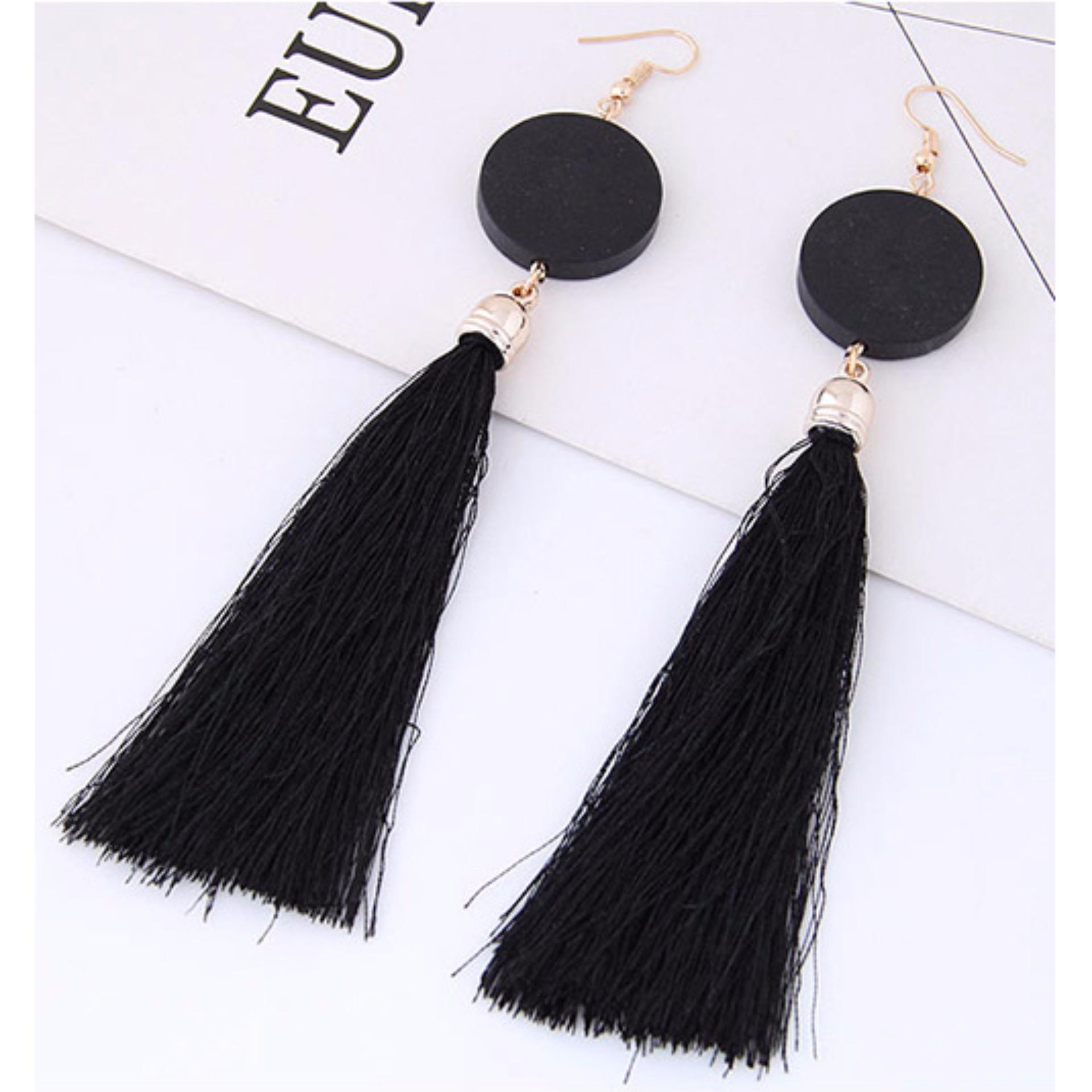 Gambar Salon Gantung Lrc Anting Gantung Elegant Tassel Decorated Earrings