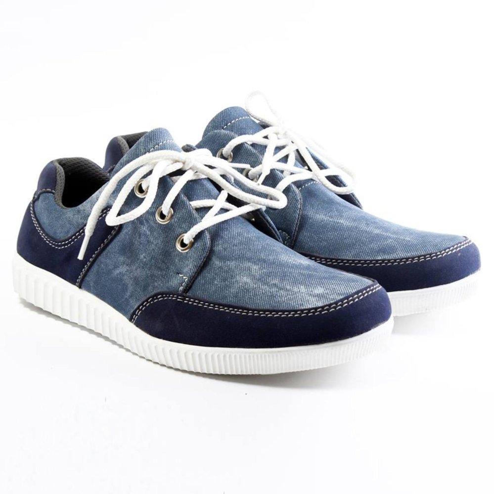 Salvo Sepatu sneaker denim biru