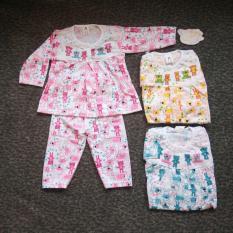 Setelan Baju Bayi Perempuan Motif Bear Piyama Tidur