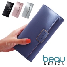 BEAU Dompet Wanita Import Batam Branded Model Terbaru Kulit Korea Forever Young PU Leather Women Purse