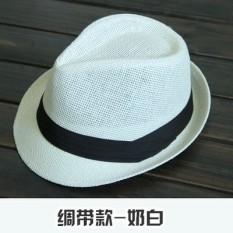 Yixuefang Topi Korea Fashion Style Pelindung Sinar Matahari Pria Dan Wanita  Topi Jerami Pantai (  15030c346a