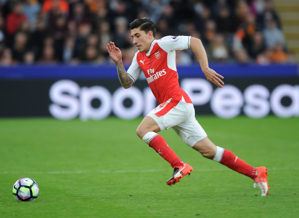 HULL, ENGLAND - SEPTEMBER 17:  Hector Bellerin of Arsenal during the Premier League match between Hull City and Arsenal at KCOM Stadium on September 17, 2016 in Hull, England.  (Photo by Stuart MacFarlane/Arsenal FC via Getty Images)