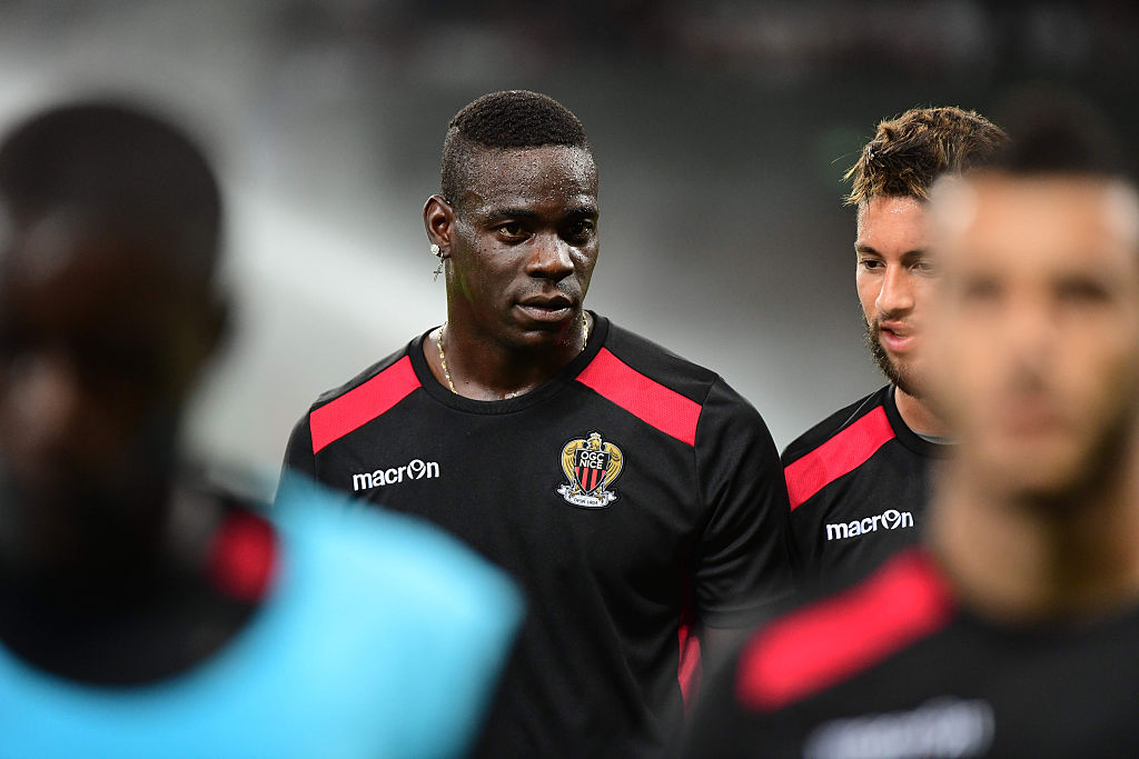 Mario Balotelli of Nice before the Europa League match between Nice and Schalke 04 at Allianz Riviera Stadium on September 15, 2016 in Nice, France. (Photo by Dave Winter/Icon Sport) (Photo by Dave Winter/Icon Sport via Getty Images)