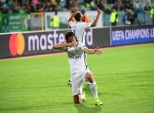 Joy for Edinson Cavani of PSG as he puts his side 2-1 ahead during the UEFA Champions League match between Ludogorets and Paris Saint Germain  at Vasil Levski National Stadium on September 28, 2016 in Sofia, Bulgaria. (Photo by Dave Winter/Icon Sport) (Photo by Dave Winter/Icon Sport via Getty Images)